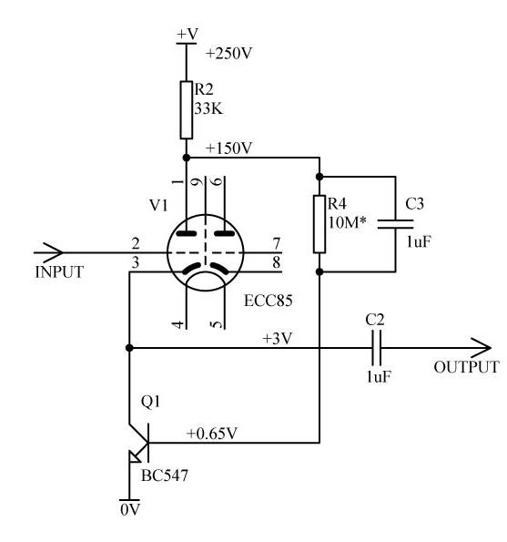 Low distortion cathode follower - Valve Radio
